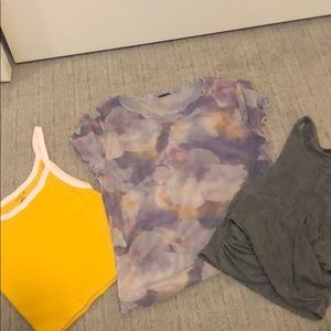 Set of 3 Urban outfitters crops